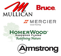 A and N Flooring works with the major hardwood flooring brands